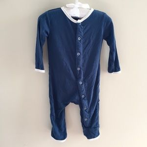 Kickee Pants Blue Whale Coverall 3-6 Months